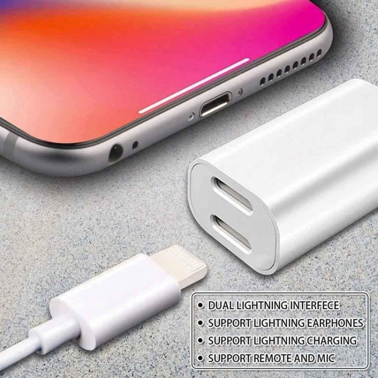 ZS-S1801 2 in 1 8 Pin Male to 8 Pin Charging + 8 Pin Audio Female Connector Earphone Adapter, Support Calls, Compatible with IOS 13 System - Star Produkte