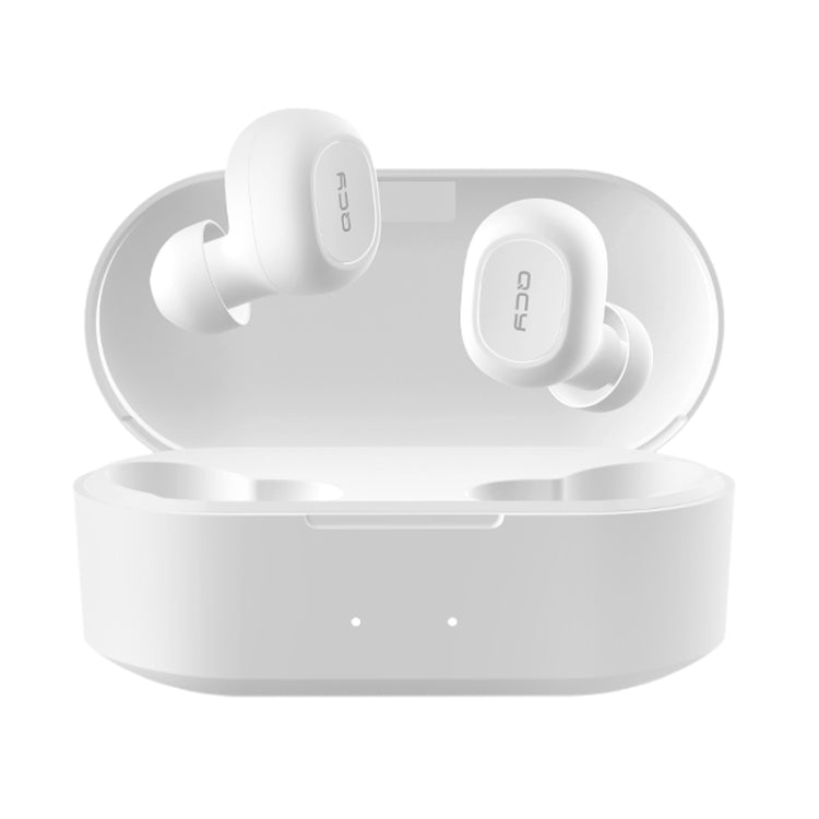QCY T2C TWS Bluetooth 5.0 Dual Microphone Wireless Sports Earphone with Charging Box(White) - star-produkte.myshopify.com