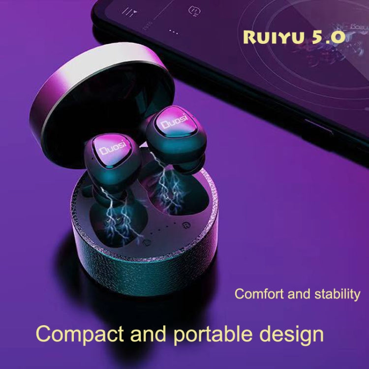 Duosi DY-18 True Wireless Stereo Earphone Realteck 5.0 Bluetooth Chipset 450mah Charging Box TWS Earbuds(Pink) - star-produkte.myshopify.com