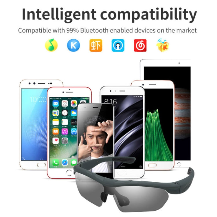 LK88 CSR4.0 Bluetooth Polarizer Glasses Folding Portable Lightweight Bluetooth Glasses Stereo Sound Earphone(Blue) - star-produkte.myshopify.com
