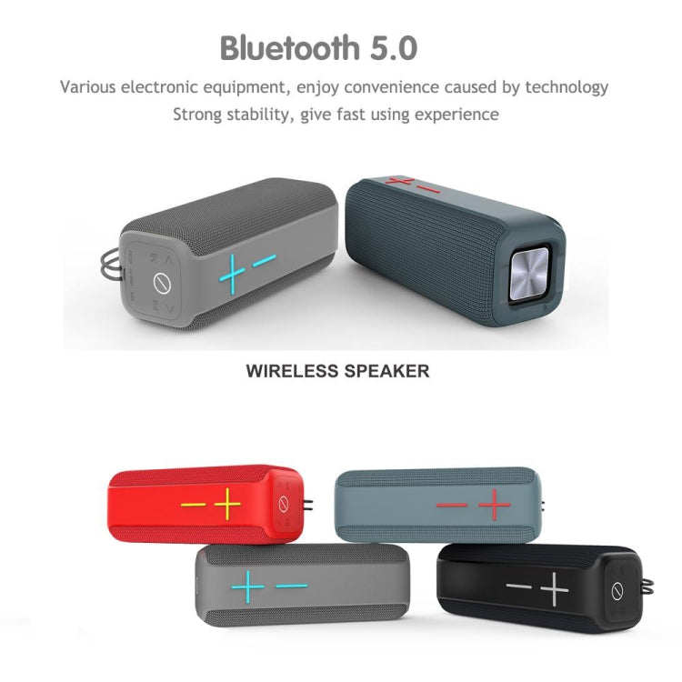 P15 10W Portable Bluetooth Speaker Outdoor Loudspeaker Sound System Stereo, Support TF&FM(Red) |
