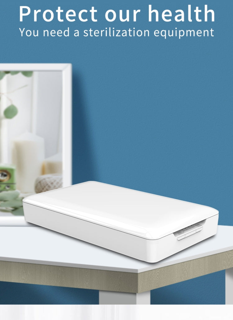 Portable UV Disinfection Box With Disinfection / Sterilization / Aromatherapy / Charging Transfer Function(White) - Star Produkte
