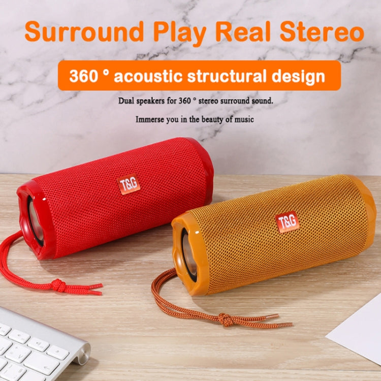 T&G TG191 10W Waterproof Bluetooth Speaker Stereo Double Diaphragm Subwoofer Portable Audio FM Radio(Gold) - Star Produkte