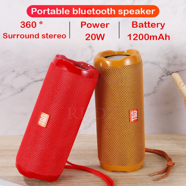 T&G TG191 10W Waterproof Bluetooth Speaker Stereo Double Diaphragm Subwoofer Portable Audio FM Radio(Gold) |