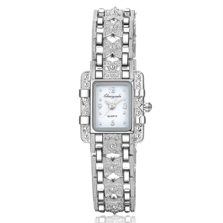 Square Dial Stainless Steel Strap Quartz Watch(White) - star-produkte.myshopify.com