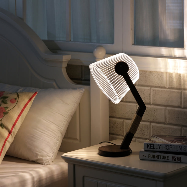 Fashion Simple Acrylic Home Bedroom Bedside Creative 3D Night Light Table Lamp(UK Plug) |