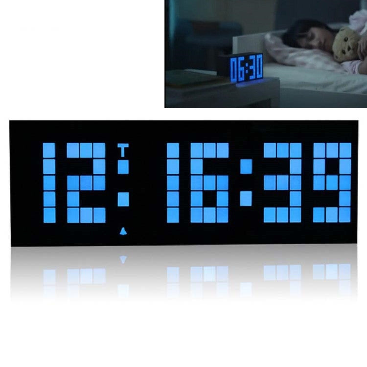 Digital Electronic Alarm Clock Creative LED Desk Clock US Plug, Style:6 Digits 5 Segments(Blue Light) - Star Produkte