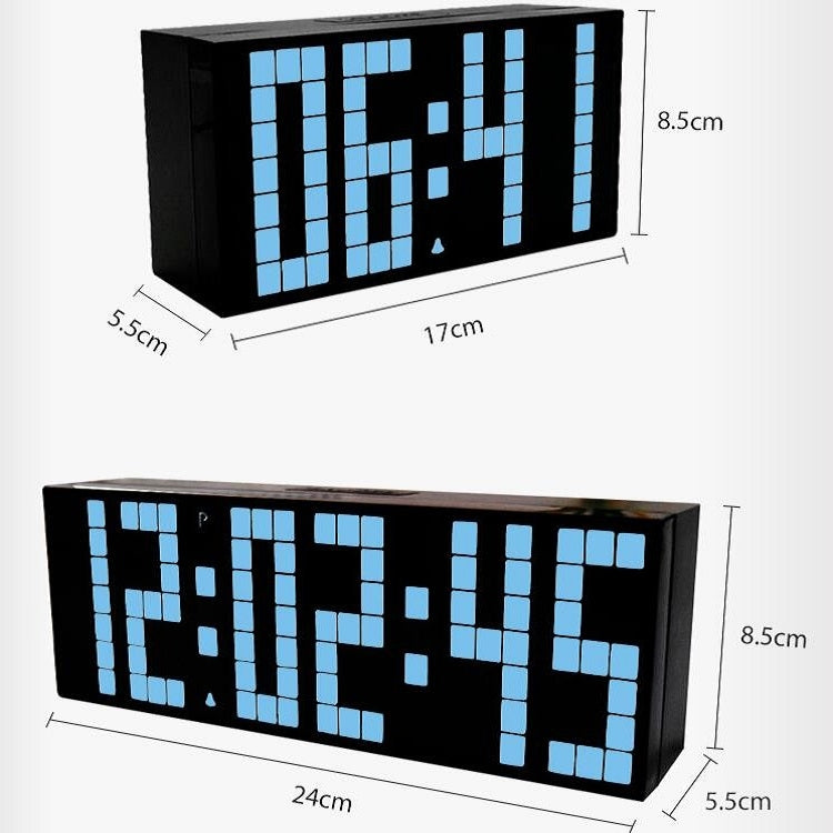 Digital Electronic Alarm Clock Creative LED Desk Clock US Plug, Style:6 Digits 7 Segments(White Light) - Star Produkte