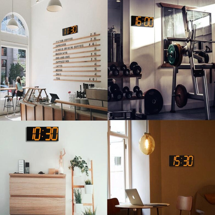 Wall Sticker LED Wall Clock Decorative Clock Creative Acrylic Mirror Clock US Plug, Style:Remote Version Sealed Box(Green Font) - star-produkte.myshopify.com