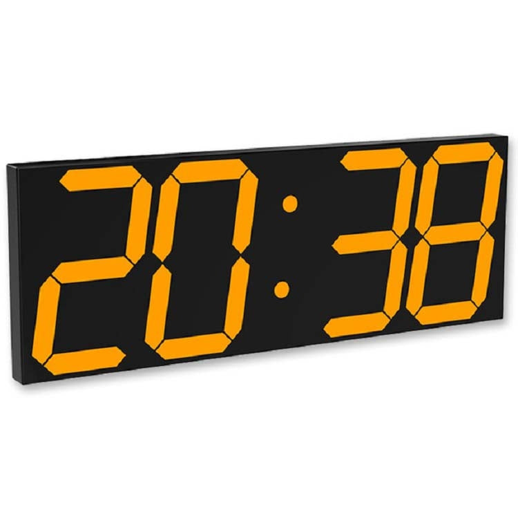 Wall Sticker LED Wall Clock Decorative Clock Creative Acrylic Mirror Clock US Plug, Style:Remote Version Sealed Box(Gold Font) - star-produkte.myshopify.com