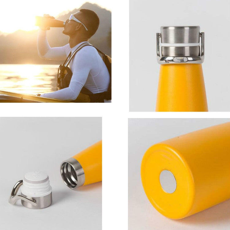 304 Stainless Steel Insulation Cup Student Fresh Literary Portable Large Capacity Water Cup, Capacity:475ml(Yellow) - star-produkte.myshopify.com