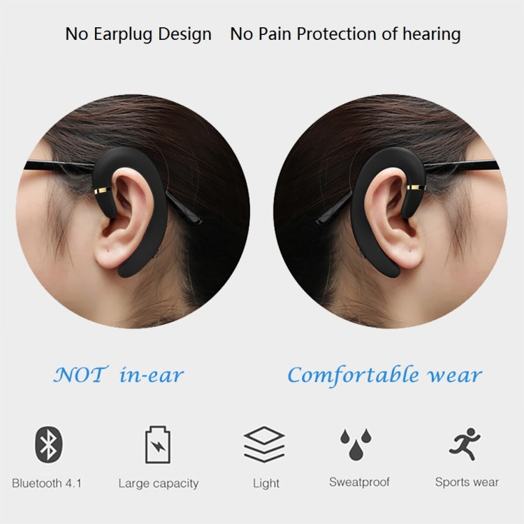 ET Bluetooth Earphone Wireless Headset Handsfree Ear Hook Waterproof Noise Reduction Earphone with Mic for Android IPhone(black) - star-produkte.myshopify.com