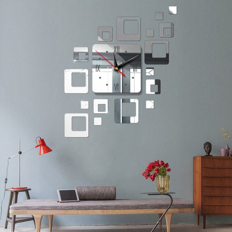 Home Mirror Surface Sticker Home Office Decorative Mirrors 3D Stereo Clock Acrylic Mirror Clock Block Combination Clock(Mirror Light Gold) - star-produkte.myshopify.com