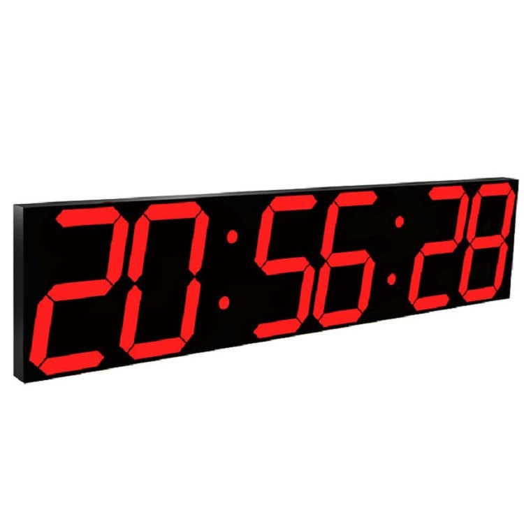Multifunctional LED Wall Clock Creative Digital Clock US Plug, Style:Sealed Box Remote Control(Red Font) - Star Produkte
