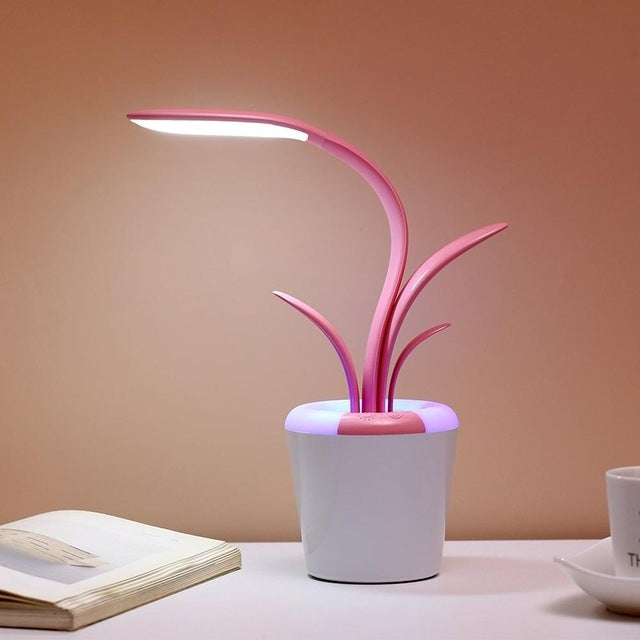 Clivia Foldable Rechargeable Touch Switch Eye Protection Mini Reading LED Desk Lamp Colorful Atmosphere Light(Pink) |