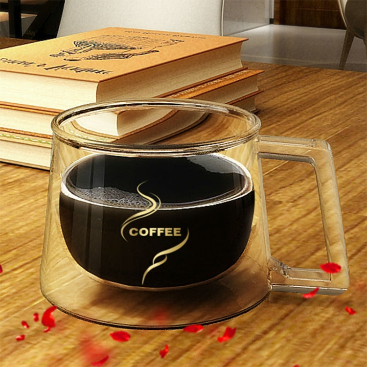 Double Wall Mug Office Mugs Heat Insulation Double Coffee Mug Coffee Glass Cup, Style:Labeled - Star Produkte