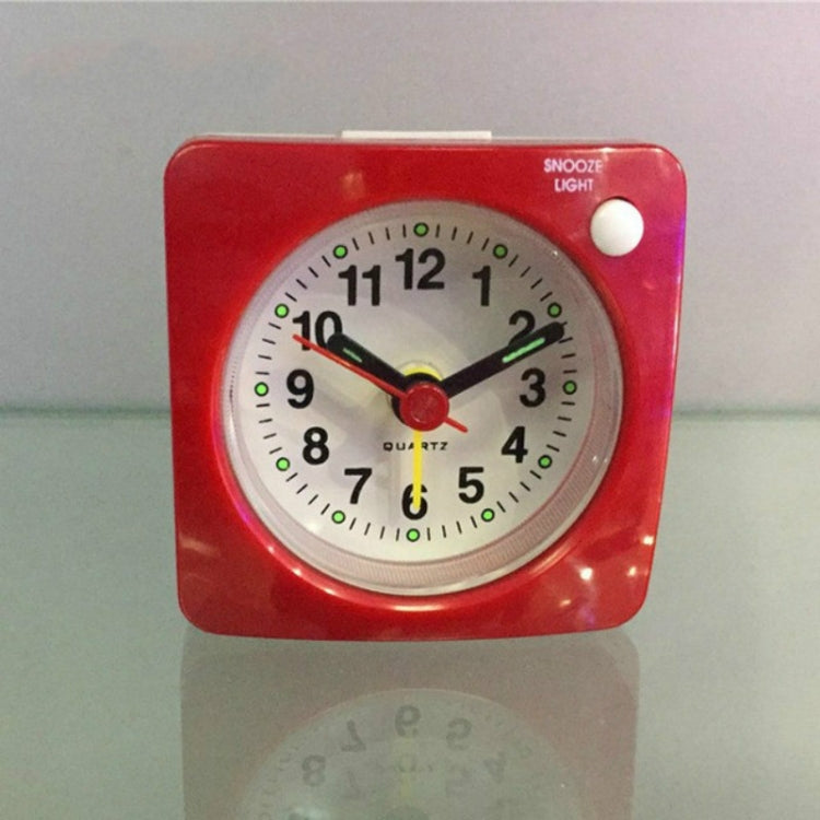 Travel Small Alarm Clock Bedside Mute Alarm Clock with Light & Snooze Function(Red) |