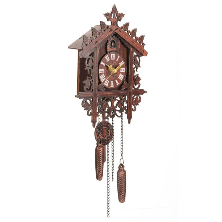 Hanging Handcraft Wooden Clock House Style Cuckoo Wall Clock(Dark Yellow) - Star Produkte