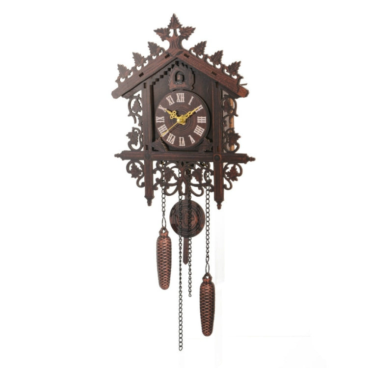 Hanging Handcraft Wooden Clock House Style Cuckoo Wall Clock(Dark Black) - star-produkte.myshopify.com