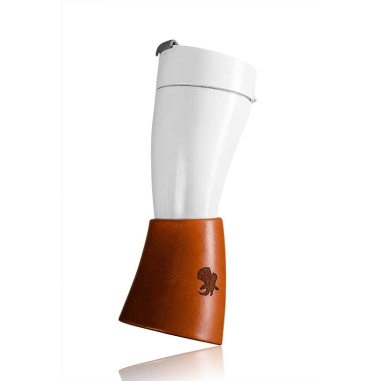 Croissant Cup Coffee Cup Stainless Steel Vacuum Flask with Rope(White) - Star Produkte