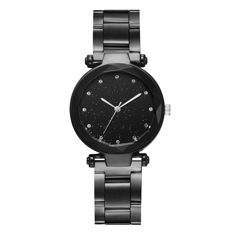 2 PCS Star Steel Strip Alloy Quartz Trend Watch(Black) - star-produkte.myshopify.com