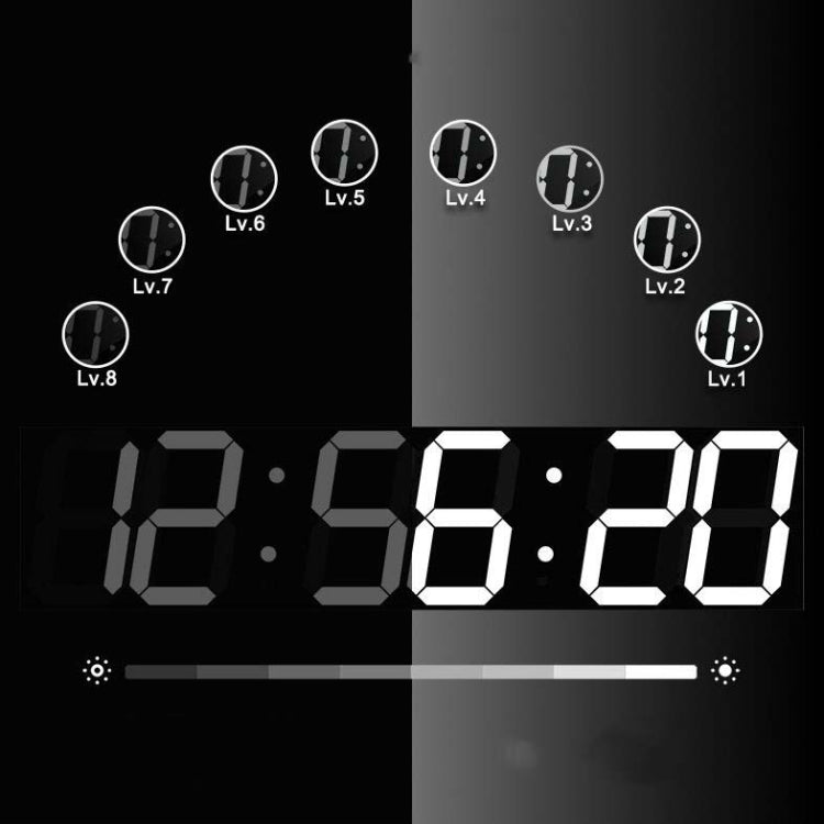 Creative LED Digital Wall Clock Multi-function WIFI Clock, Style:6 Bit Hollow WIFI(Red) - Star Produkte