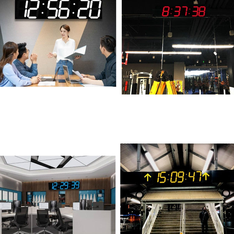 Creative LED Digital Wall Clock Multi-function WIFI Clock, Style:6 Bit Hollow WIFI(Ice Blue) - star-produkte.myshopify.com