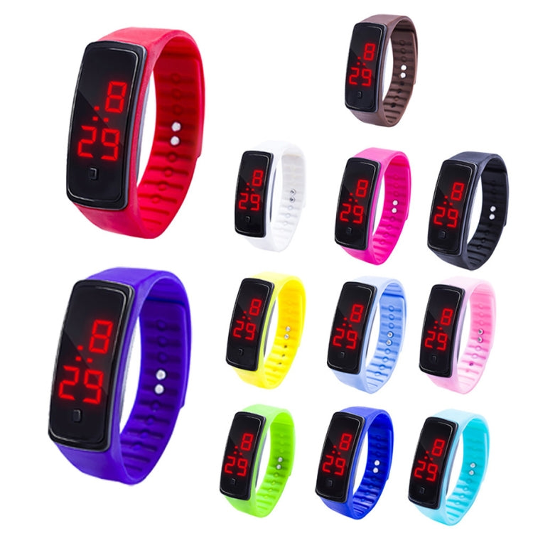 LED Digital Display Silicone Bracelet Children Electronic Watch(Blue) - star-produkte.myshopify.com