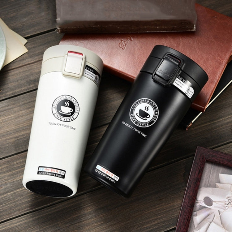 Stainless Steel Thermos Cups Insulated Tumbler, Capacity:380ml(BLACK) |