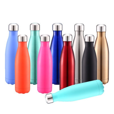 Thermal Cup Vacuum Flask Heat Water Bottle Portable Stainless Steel Sports Kettle, Capacity:500ml(Blue Red Gold) - Star Produkte