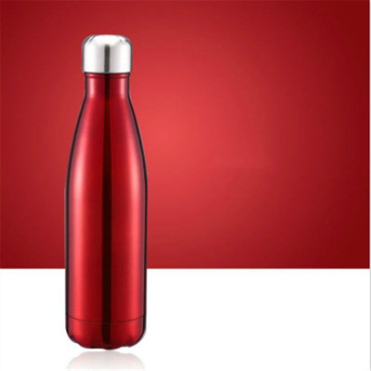 Thermal Cup Vacuum Flask Heat Water Bottle Portable Stainless Steel Sports Kettle, Capacity:500ml(Red) |