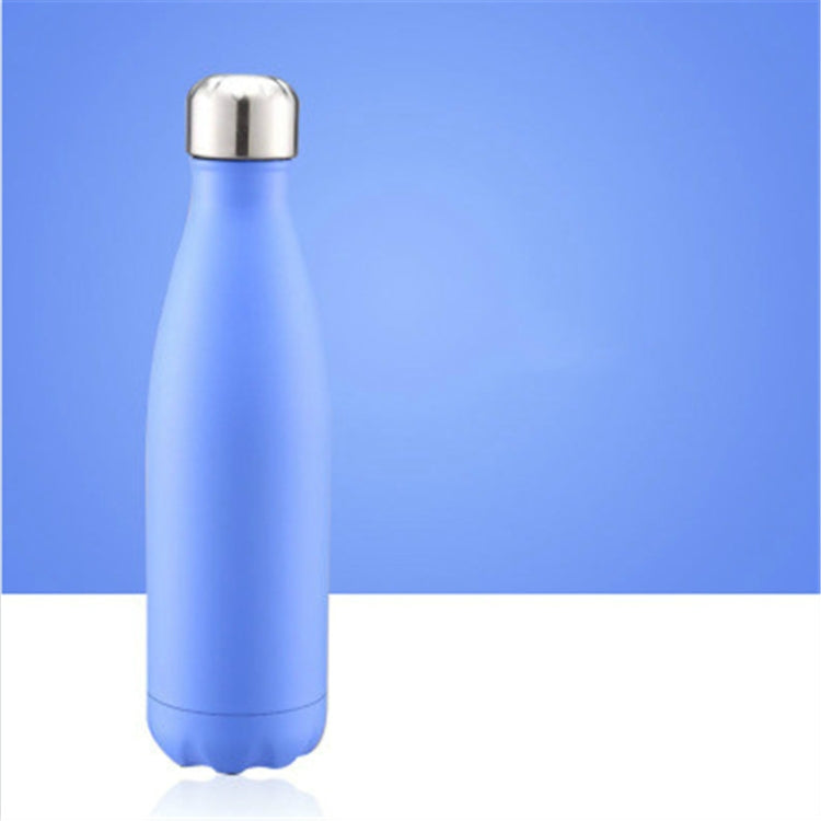 Thermal Cup Vacuum Flask Heat Water Bottle Portable Stainless Steel Sports Kettle, Capacity:500ml(Moroccan Blue) |