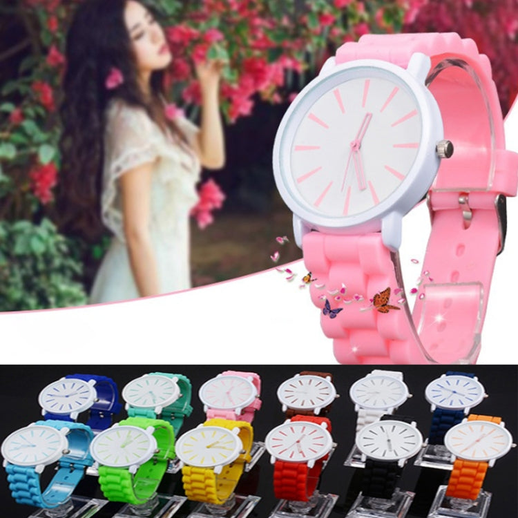 Simple Style Round Dial Jelly Silicone Strap Quartz Watch(Gray) - star-produkte.myshopify.com