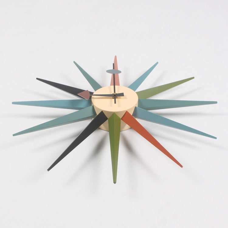 Simple Modern Sun Clock Creative Home Accessories Wall Clock(Blue Pole) - Star Produkte