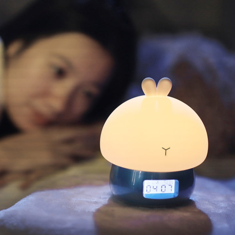 DIY Recordable Alarm Night Light Cute Thing Remote Control Color Changing Silicone Mood Alarm Clock(Pink) - Star Produkte