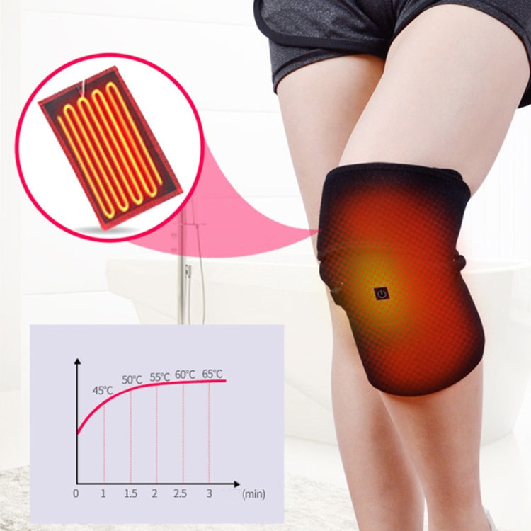 WT-R25 Electric Heating Knee Pads Hot Compress Leg Warmer Winter Knee Keep Warm Protective Gear with USB Data Cable, Specification:Android Interface - Star Produkte