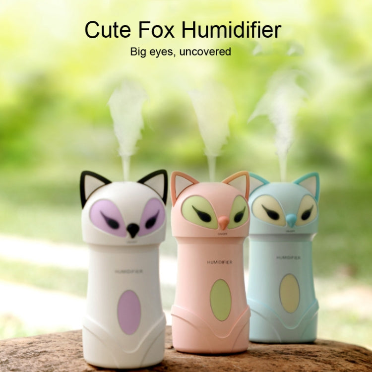 3 in 1 Car Home Mini Fox Air Humidifier USB Night Light Alcohol Spray Disinfection Air Purifier(White) - Star Produkte
