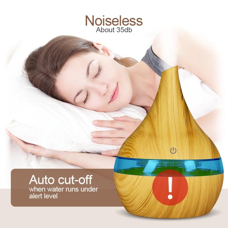 2 PCS 300ml USB Electric Aroma air diffuser wood Ultrasonic air humidifier Essential oil Aromatherapy Cool Mist Maker(Oblique Mouth Light Wood Grain) - Star Produkte