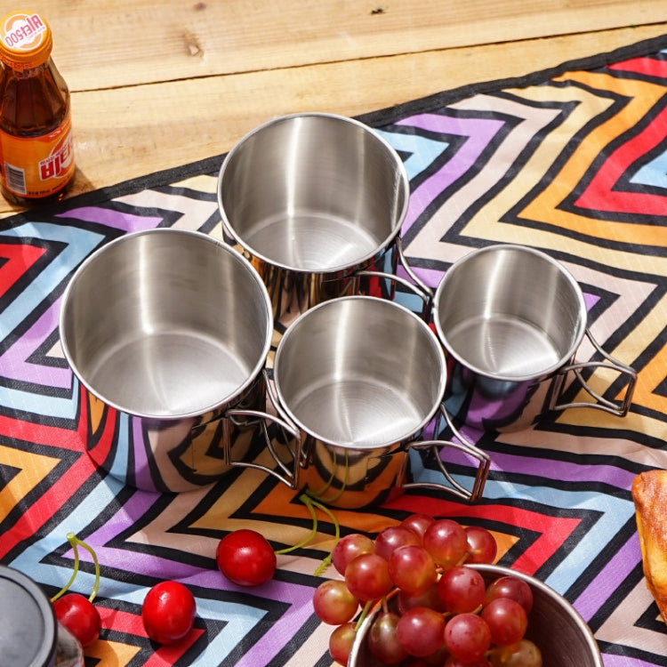 4 in 1 Outdoor 304 Stainless Steel Folding Cup Portable Cup Bowl Set |