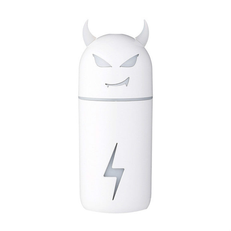 Cartoon Little Devil USB Portable Air Humidifier LED Light Essential Oil Aroma Diffuser(White) |