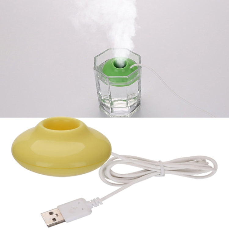 USB Universal Mini Portable UFO Spacecraft Humidifier Air Purifier Aroma Diffuser, Product Size:51X51X24MM(Yellow) - Star Produkte