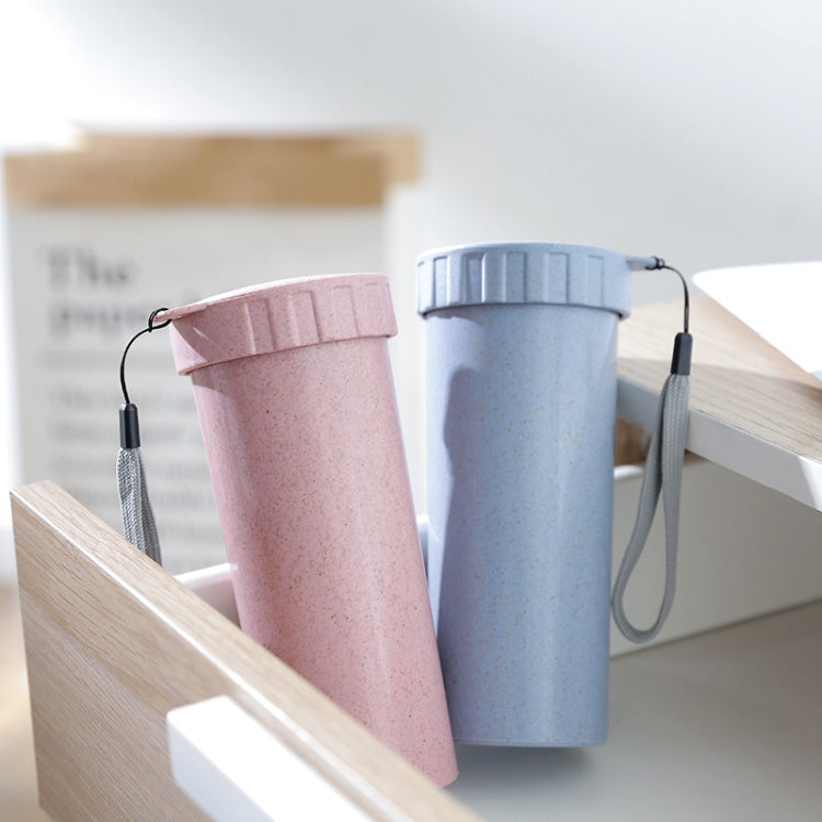 1943 Creative Wheat Straw Hand Cup Student Cute Mini Couple Cup Plastic Portable Water Cup(Blue ) - star-produkte.myshopify.com
