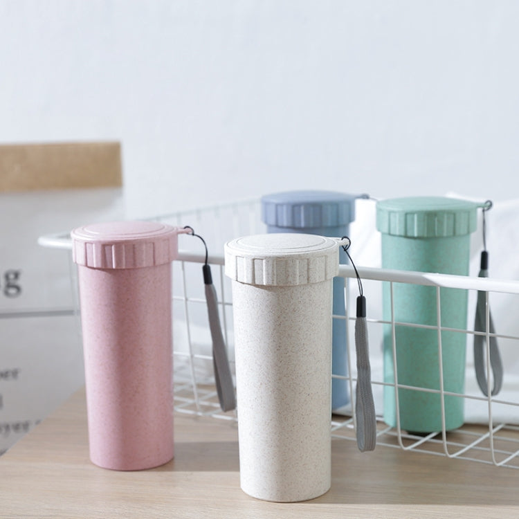 1943 Creative Wheat Straw Hand Cup Student Cute Mini Couple Cup Plastic Portable Water Cup(Green ) - star-produkte.myshopify.com