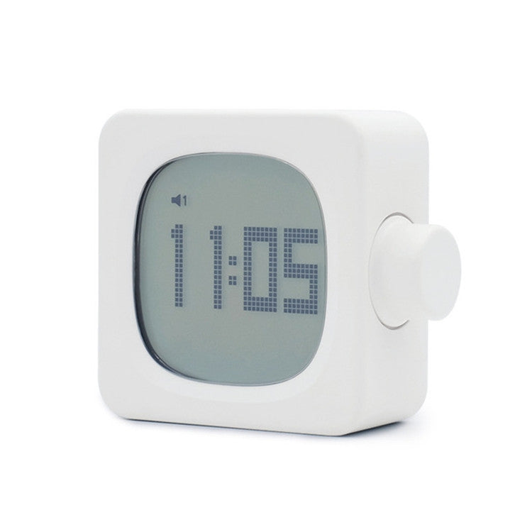 Square Alarm Clock Child Student Night Light Wake-up Lamp Led Charging Mini Small Alarm Clock(White) - Star Produkte