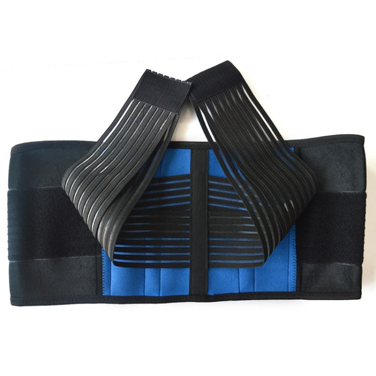 Black Blue Elastic Neoprene Warm Waist Protector Adjustable Waist Belt, Size:L - Star Produkte