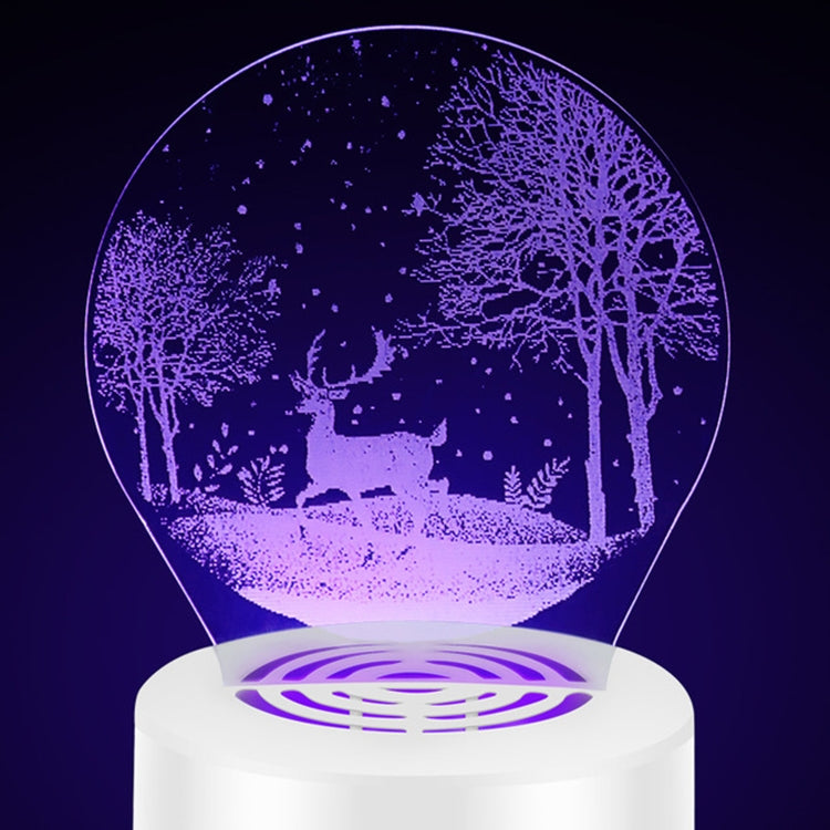 Creative 3D Mute USB Household Mosquito Killer LED Night Trap Lights, Style:Peacock(USB) |