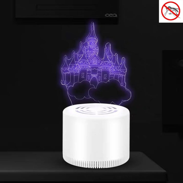 Creative 3D Mute USB Household Mosquito Killer LED Night Trap Lights, Style:Castle(USB+Plug) |