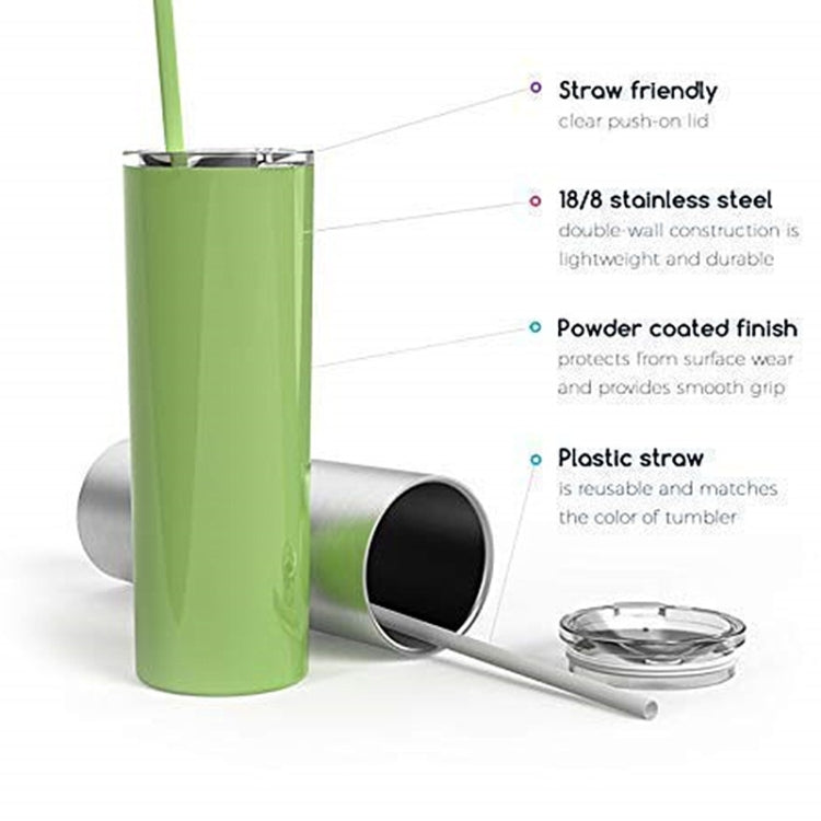 600ml Stainless Steel Double Vacuum Insulated Unbreakable Tumbler Cup with Lid & Straws(Black) |