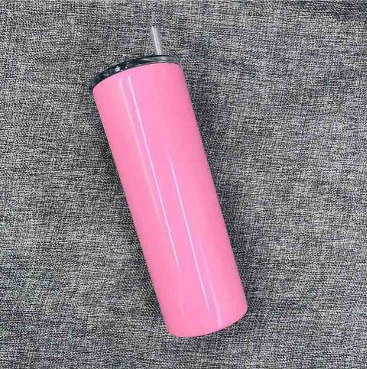 600ml Stainless Steel Double Vacuum Insulated Unbreakable Tumbler Cup with Lid & Straws(Pink) - Star Produkte