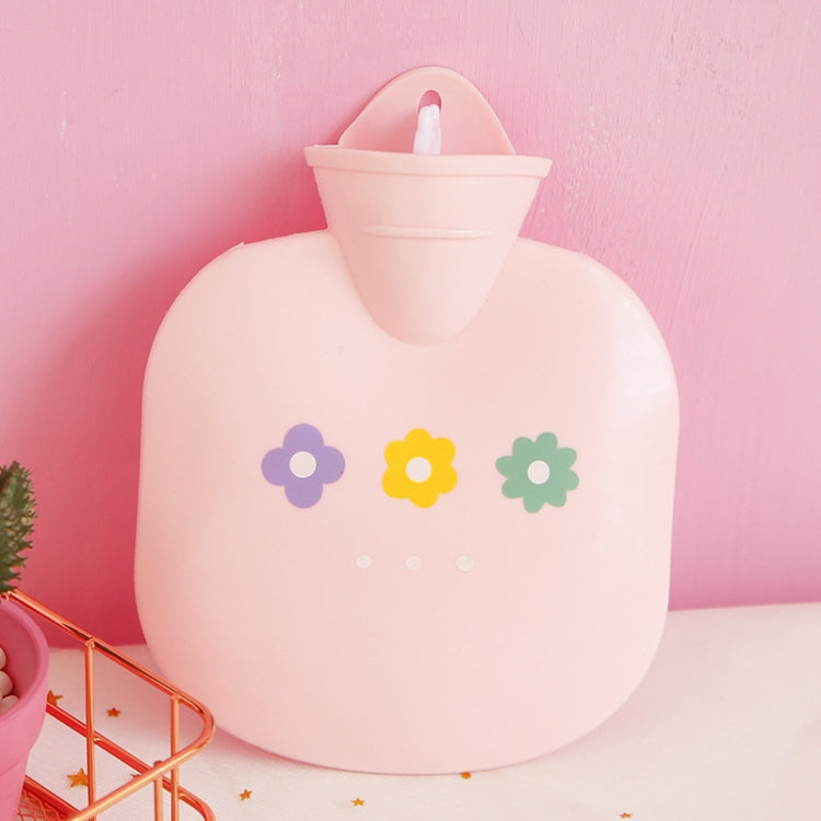 Flower PVC Filled Hot Water Bag Mini Round Bag Explosionproof Hand  Warmer(Pink) - Star Produkte